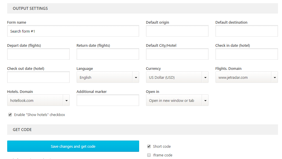 travelpayouts_search_form_settings Vendeur Pro