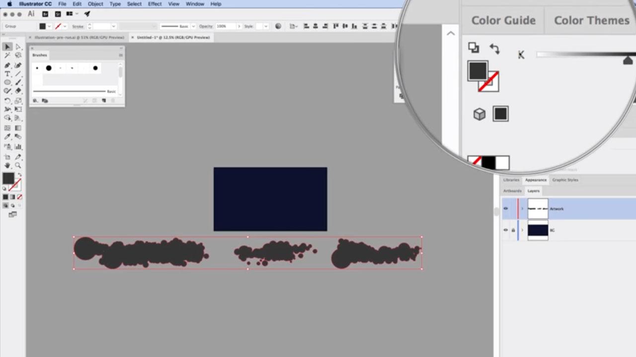 Silhouette animale Couleur Nuages Tutoriel Illustrator