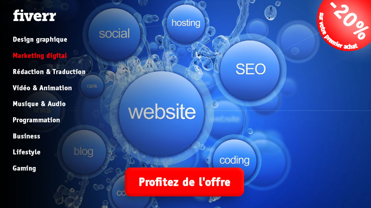 Marketing digital fiverr vendeur Pro