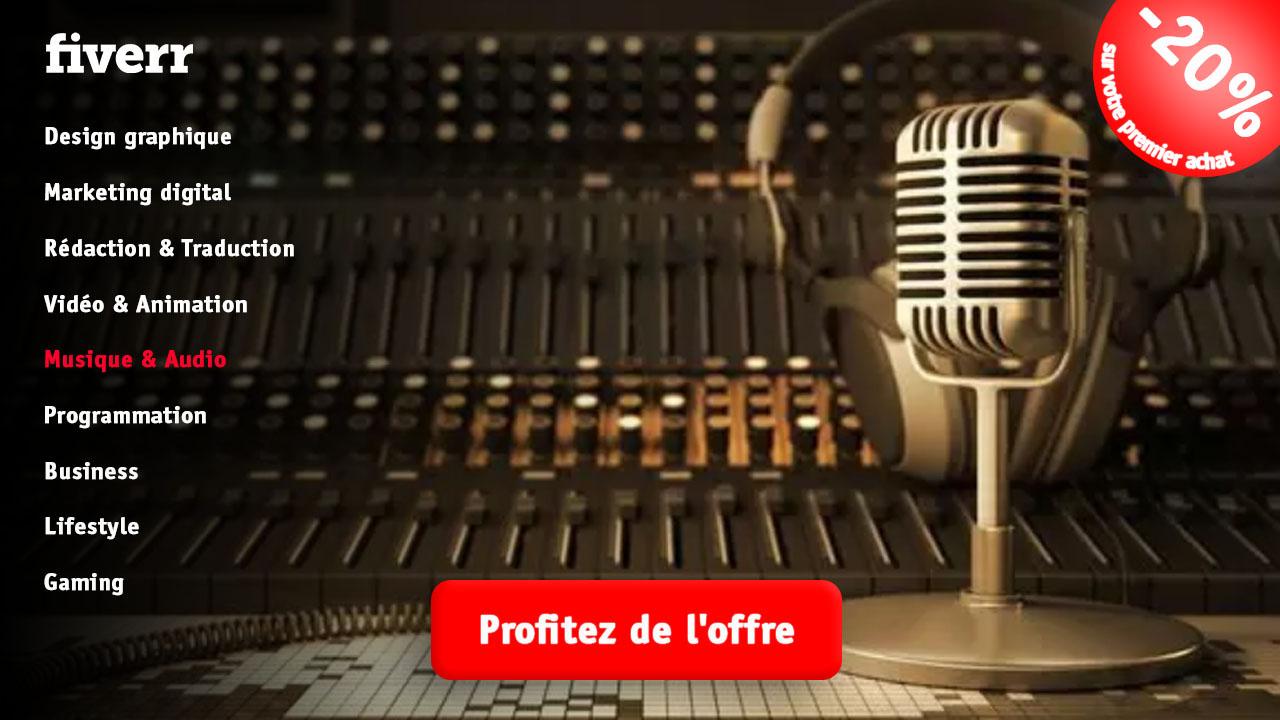 Musique audio fiverr vendeur Pro