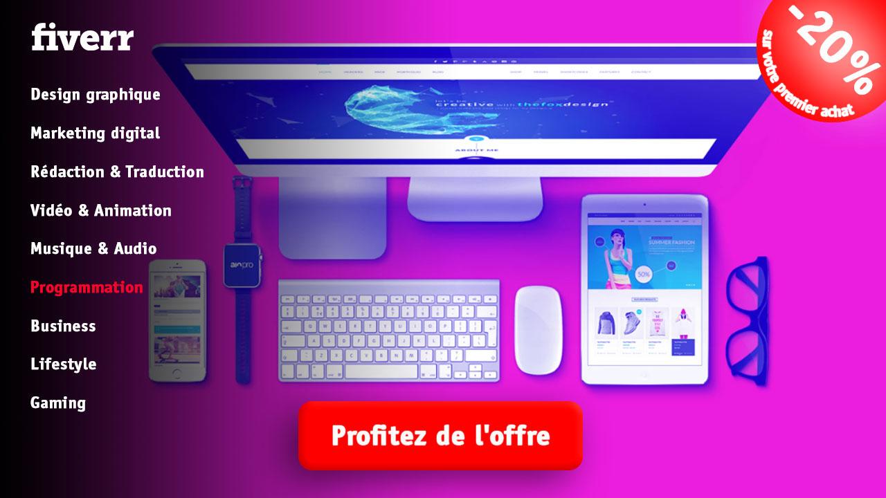 Programmation fiverr vendeur Pro