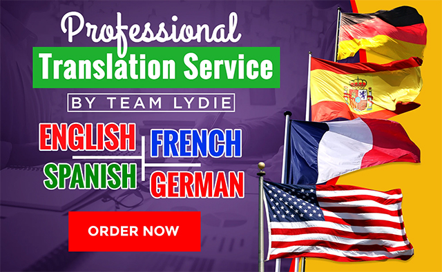 Provide English, German, French And Spanish Translations Vendeur Pro