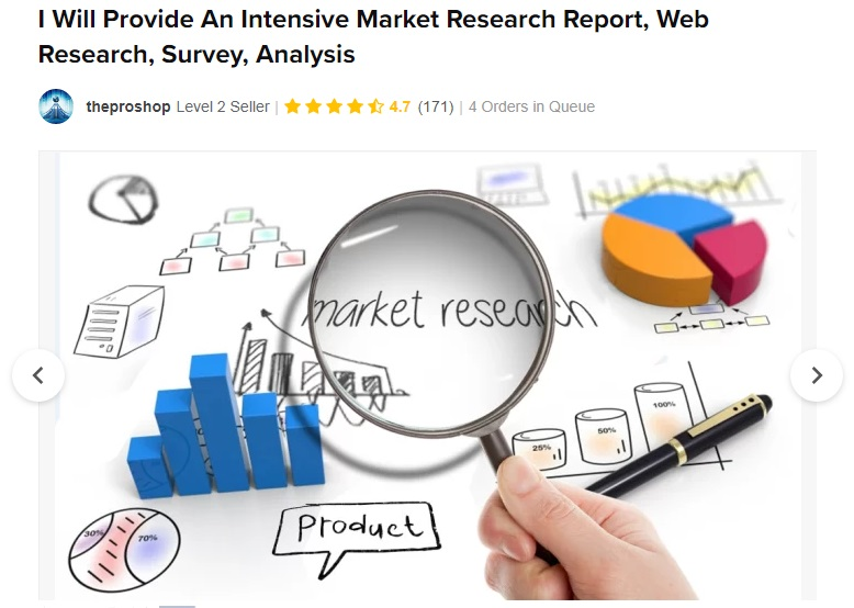 market research Vendeur Pro